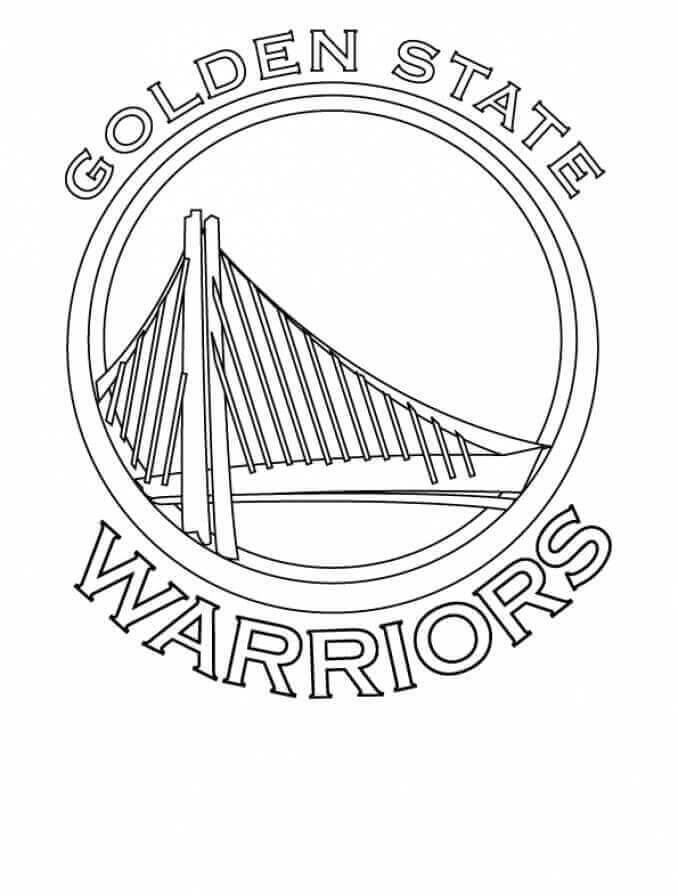 nba colouring pages golden state warriors