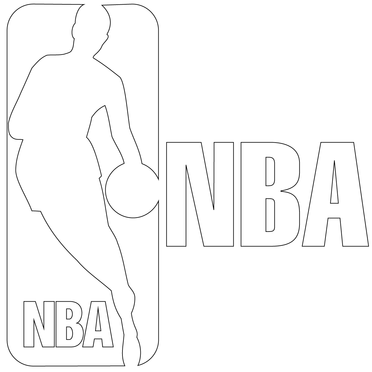 NBA Logo Colouring Pages