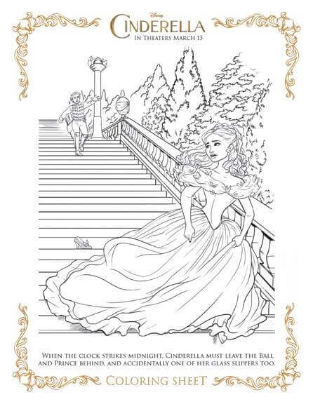 New Cinderella Coloring Page