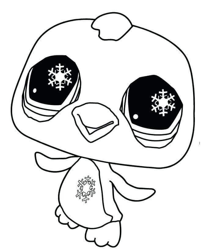 Parker From Littlest Pet Shop Coloring Page