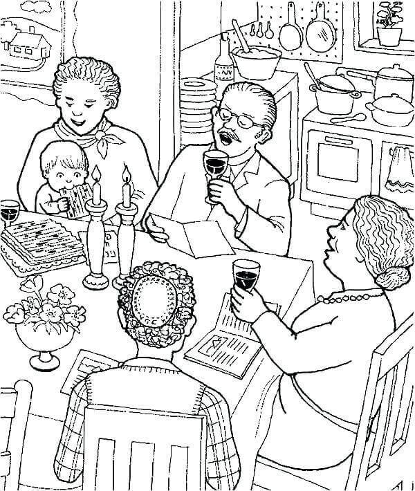 Passover Feast Coloring Pages
