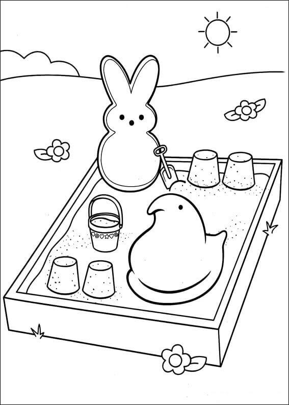 Peeps Coloring Pictures