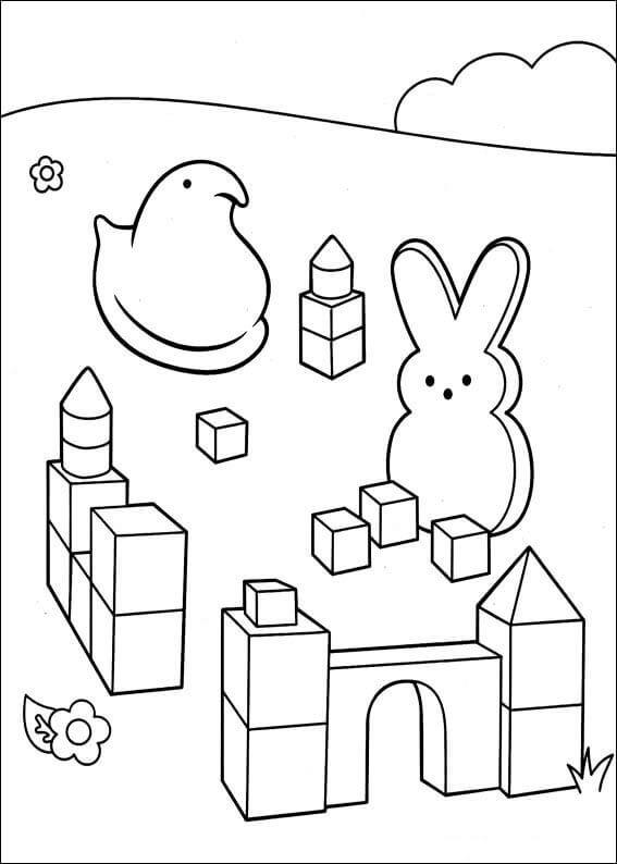 easter peeps coloring pages - photo#10
