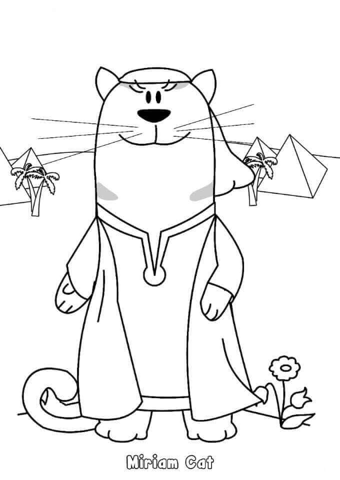 Pesach Characters Coloring Pages