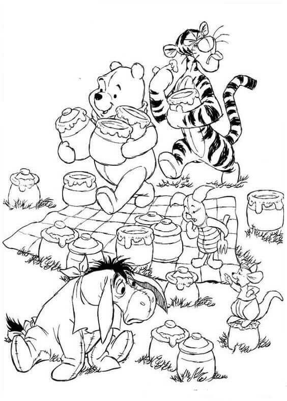 Pooh And Friends Coloring Book