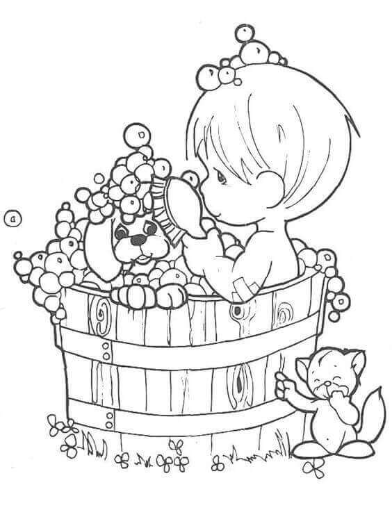 precious moments puppy coloring pages