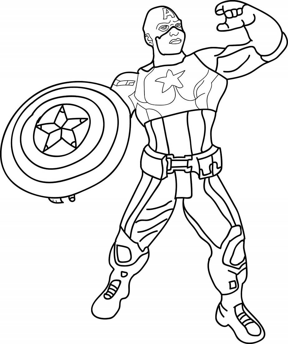 Printable Captain America Coloring Pages Free