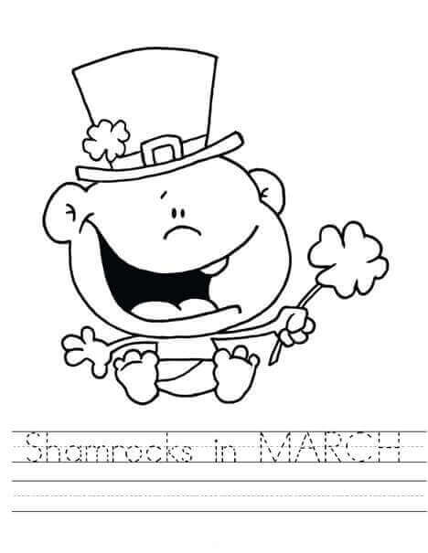 Printable March Coloring Pages
