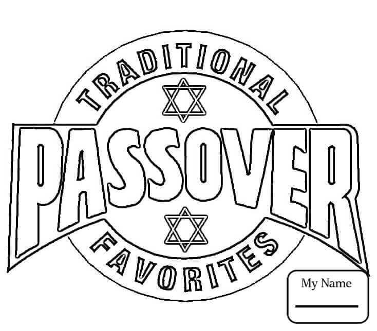 Printable Passover Coloring Pages Free