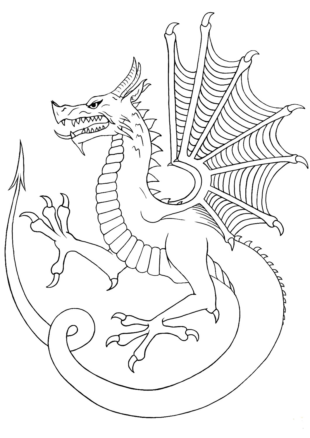 Real Dragon Coloring Pages