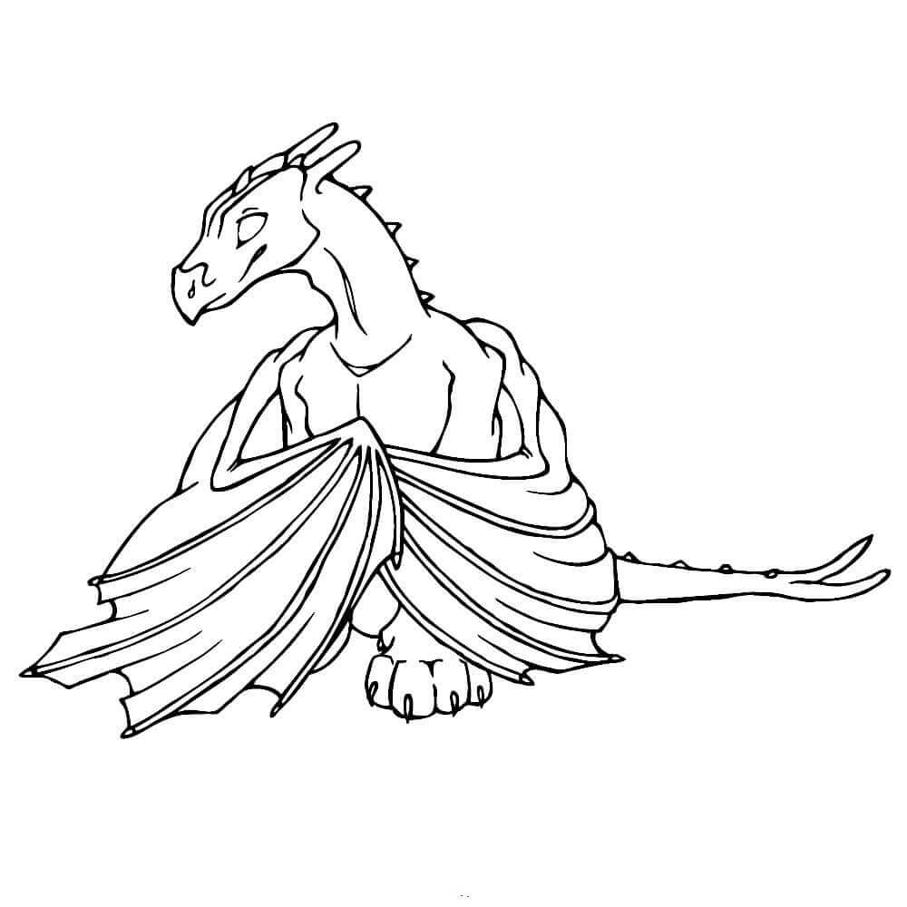 Realistic Dragon Coloring Sheets
