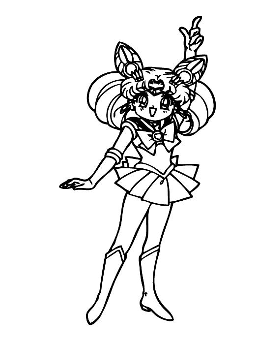 Sailor Chibi Moon Coloring Page