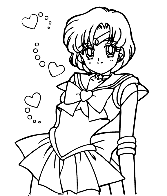 Free printable sailor moon coloring pages for Coloring pages mercury