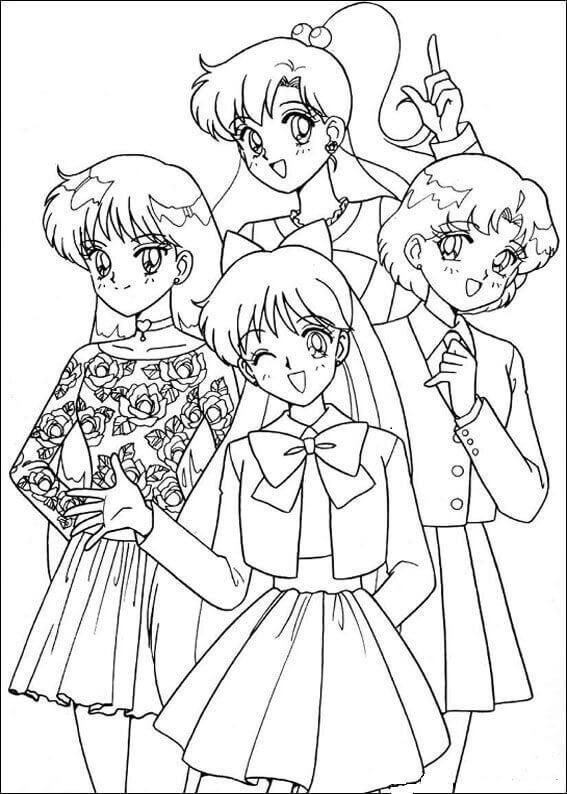Sailor Moon Coloring Pages Sera Senshi