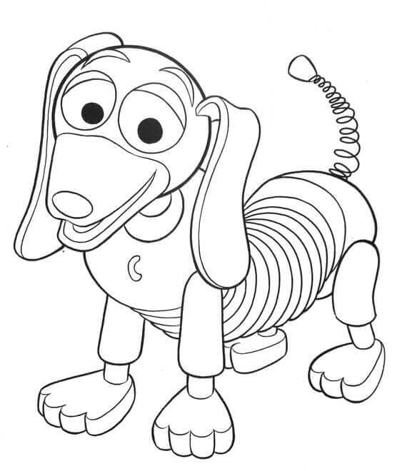 Slinky Dog From Toy Story Coloring Page