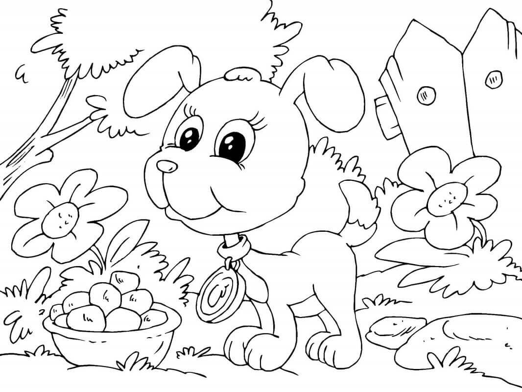 Sweet Puppy Coloring Pages