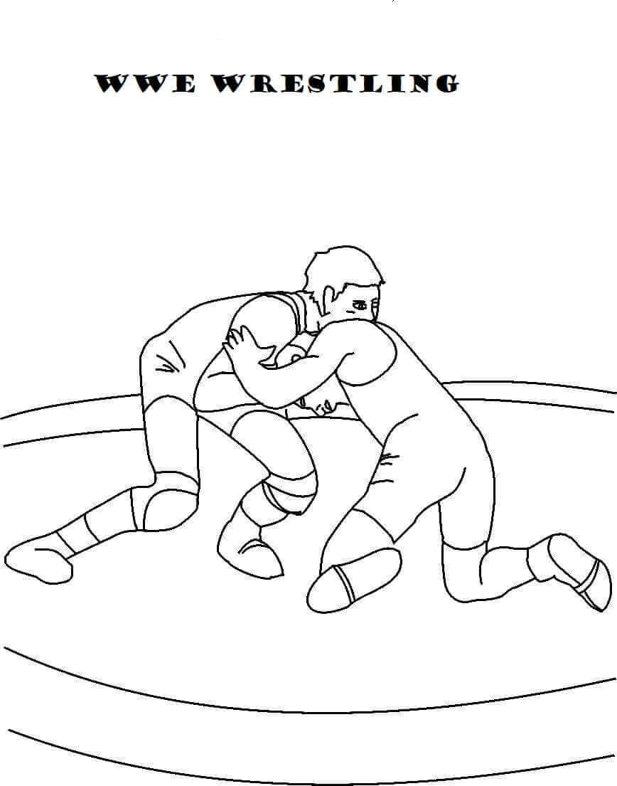 WWE Coloring Pages Free