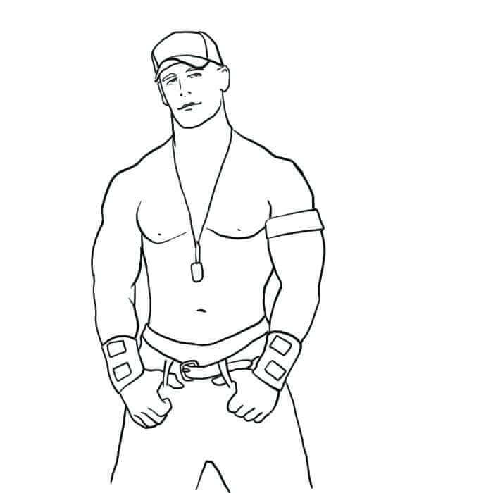 WWE Coloring Pages John Cena