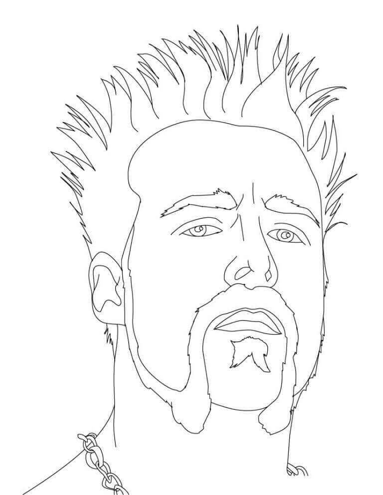 WWE Coloring Sheets Sheamus