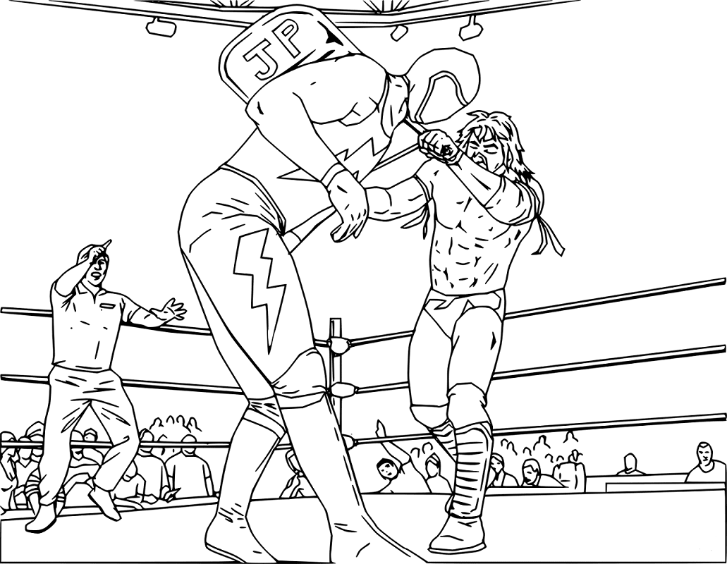 WWE Wrestling Coloring Page