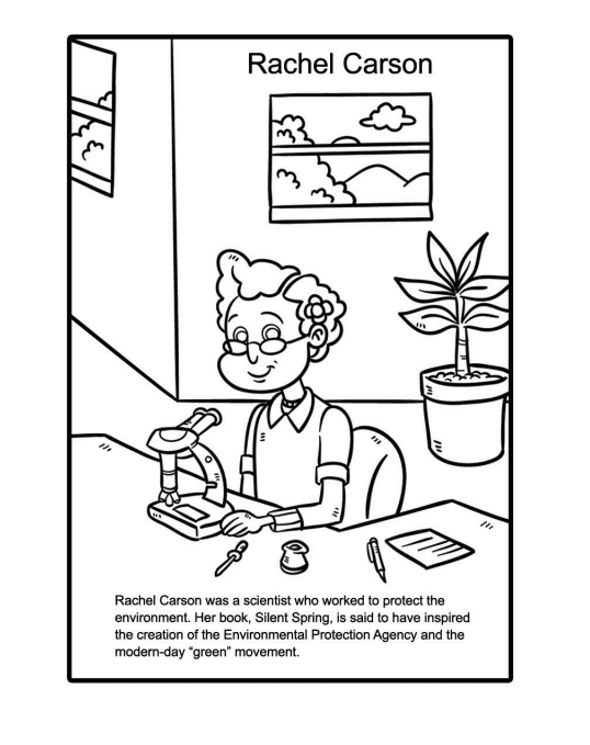 Womens Day Coloring Pages Rachel Carson