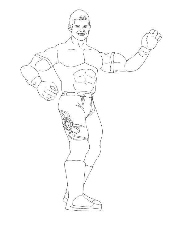 World Wrestling Entertainment Evan Bourne Coloring Page