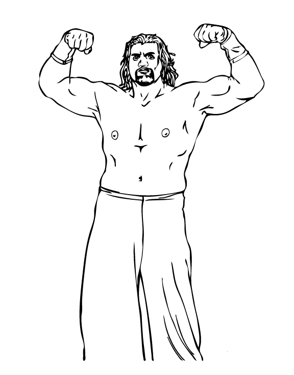 Wrestling Coloring Pages The Great Khali