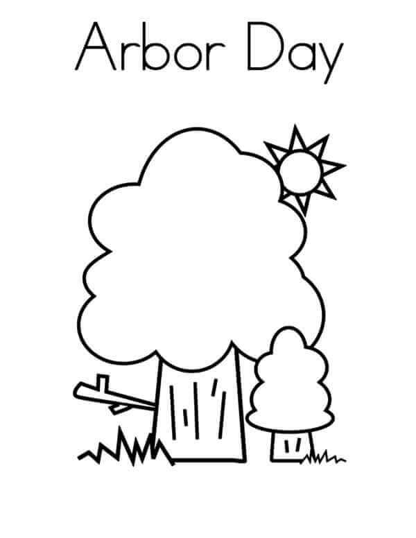 Arbor Day Coloring Pages For Preschoolers