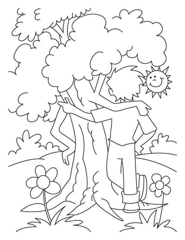 Arbor Day Coloring Pages Free