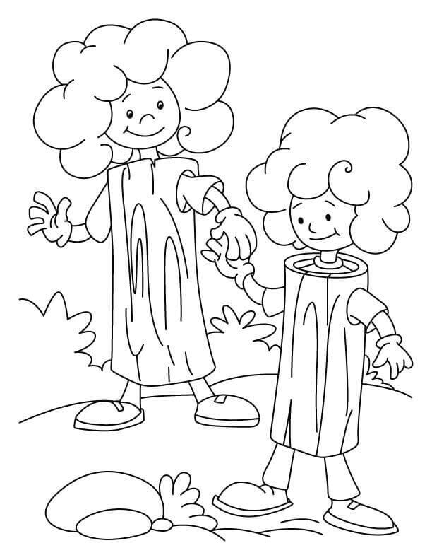 Arbor Day Coloring Sheets For Toddlers