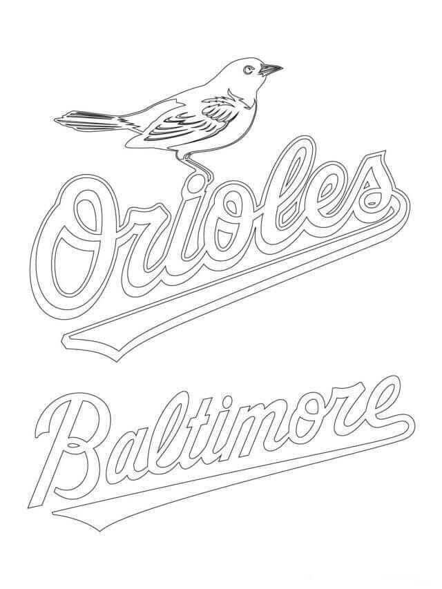 Baltimore Orioles MLB Coloring Pages