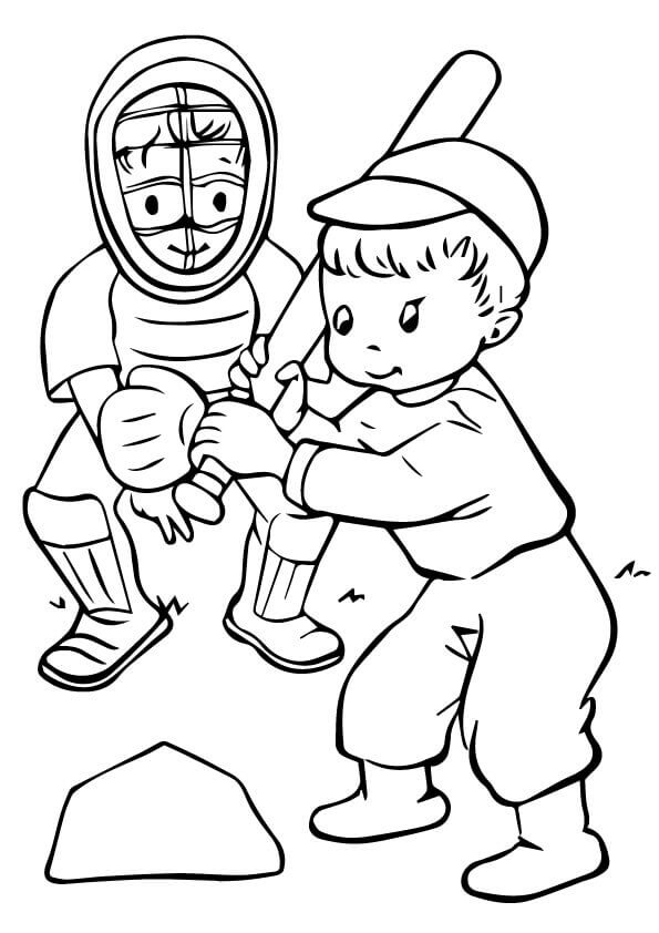 Baseball Coloring Sheets For Preschoolers