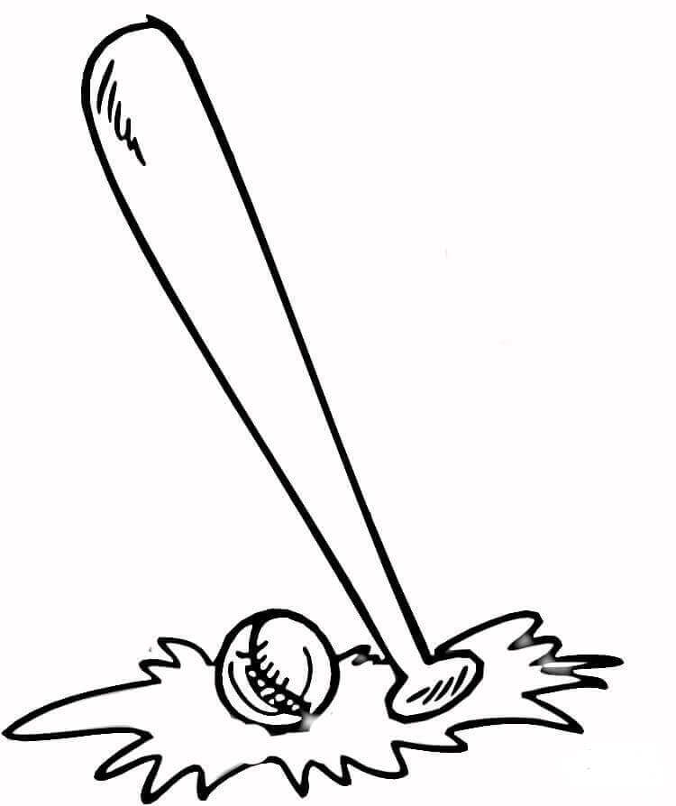 Baseball Essentials Coloring Pages