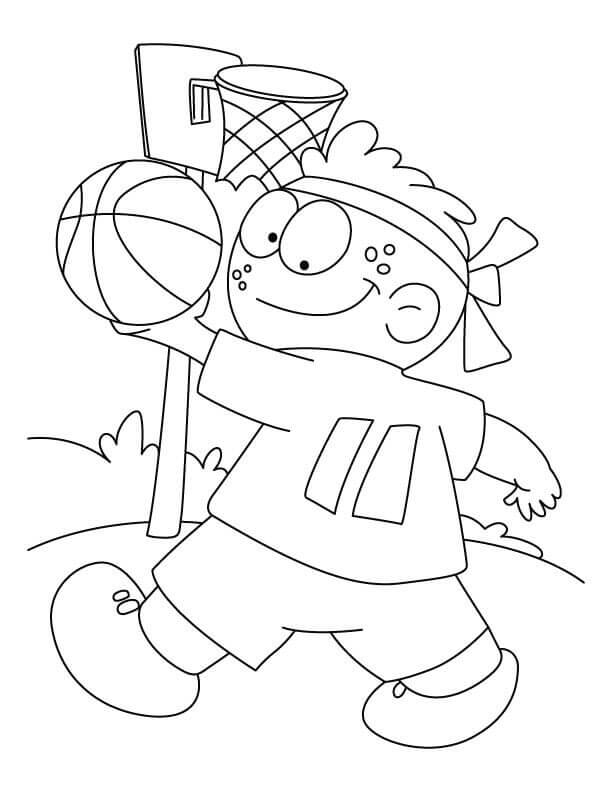 Basketball Coloring Pages For Toddlers