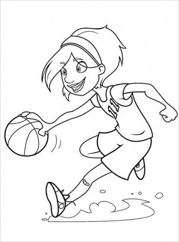 basketball player coloring pages - photo#21