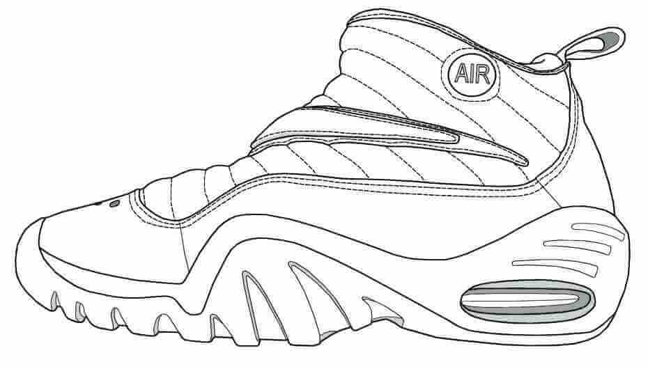 Basketball Shoes Coloring Page