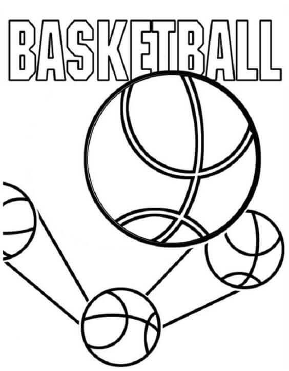 Basketballs Coloring Pages