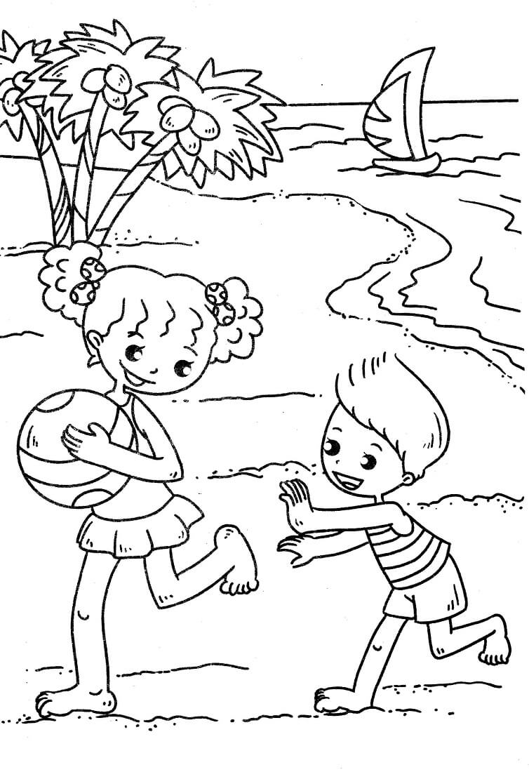 Beach Coloring Pages Free Printable