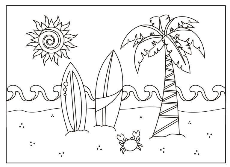 Beach Coloring Pages To Print