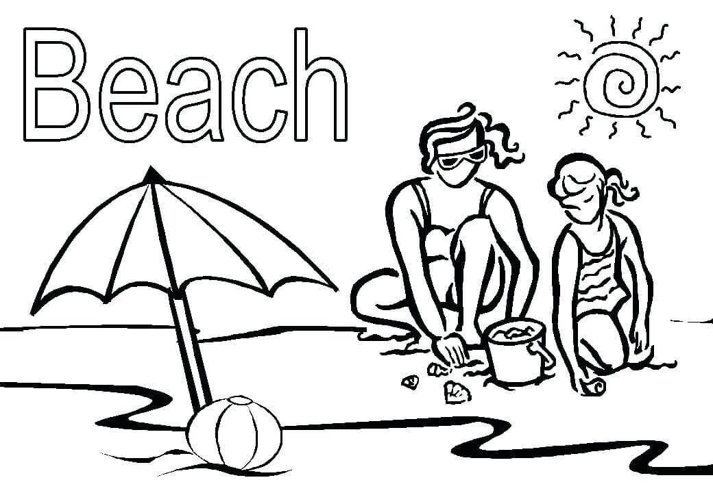 Beach Coloring Pictures