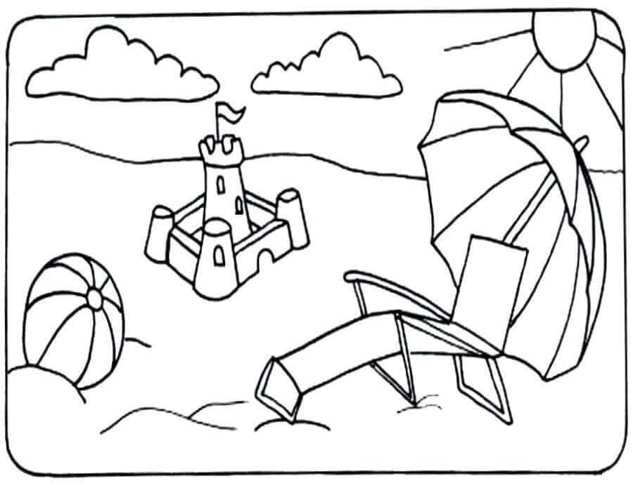 Beach Coloring Sheets To Print