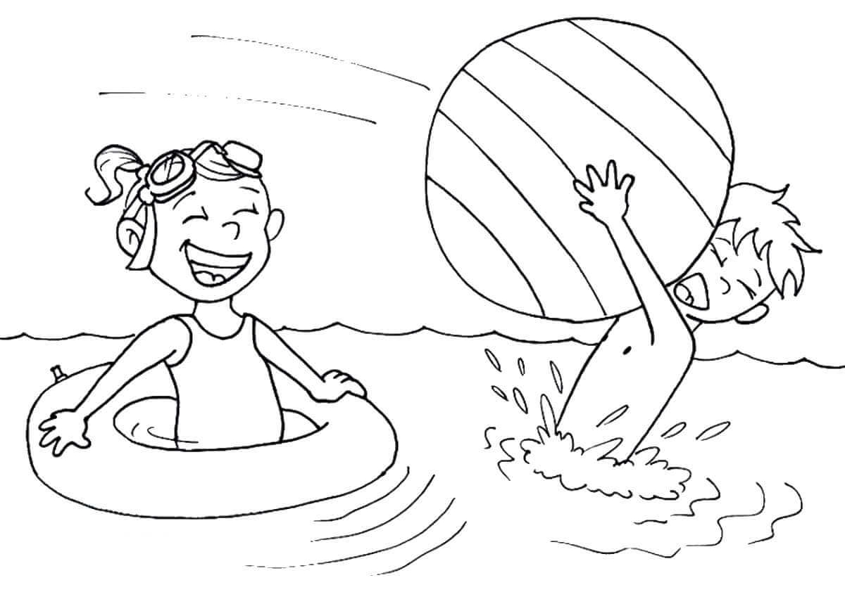 Beach Fun Coloring Pages