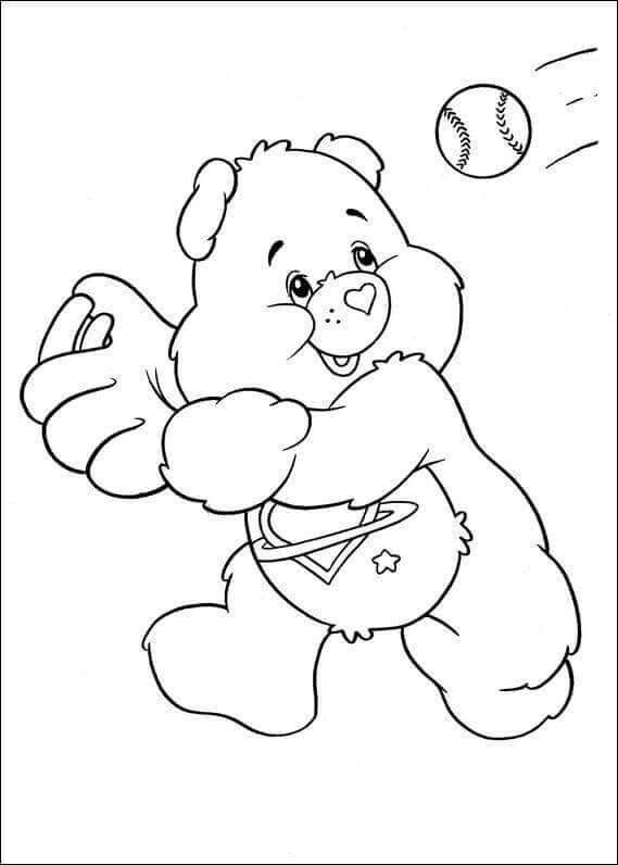 Care Bears Baseball Coloring Pages