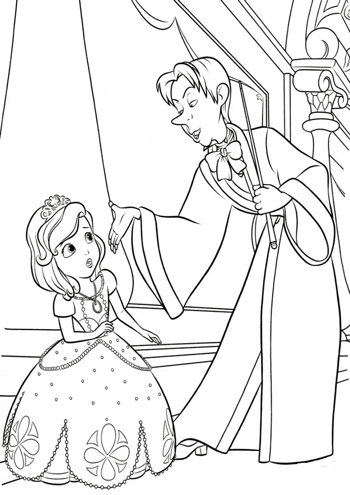 Cedric And Sofia The First Coloring Pages