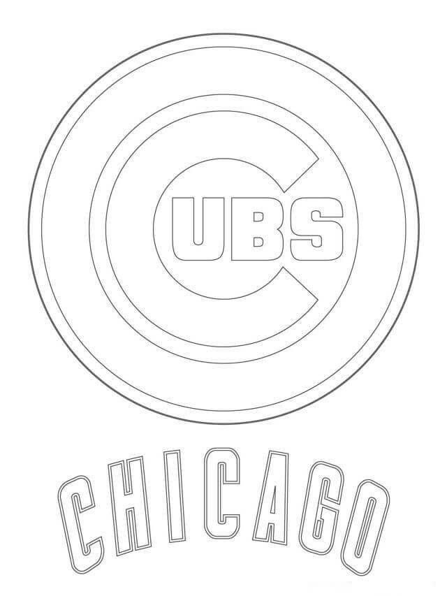 Chicago Cubs MLB Coloring Pages