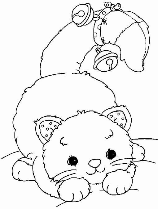 christmas cat coloring pages - photo#24
