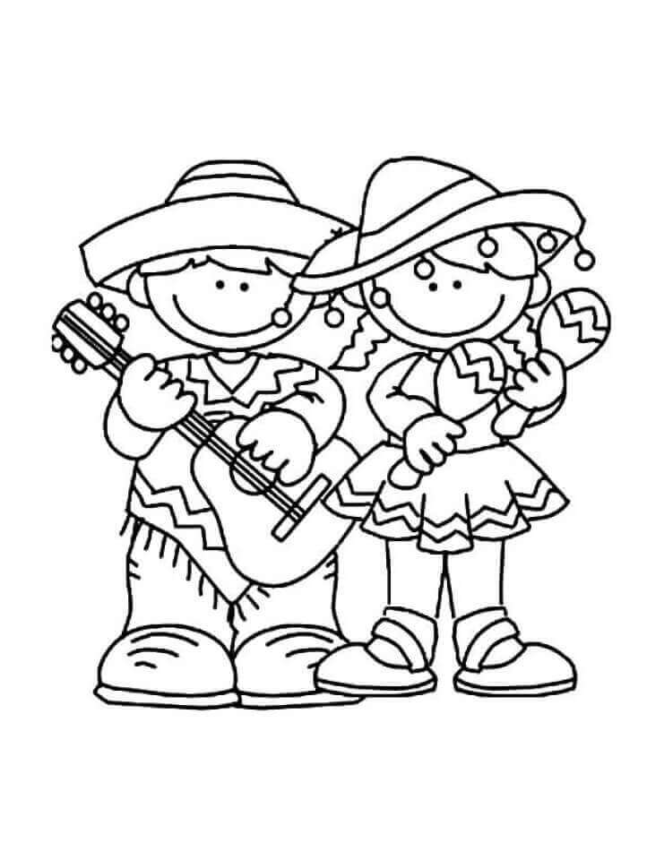 Cinco De Mayo Celebration Coloring Pages