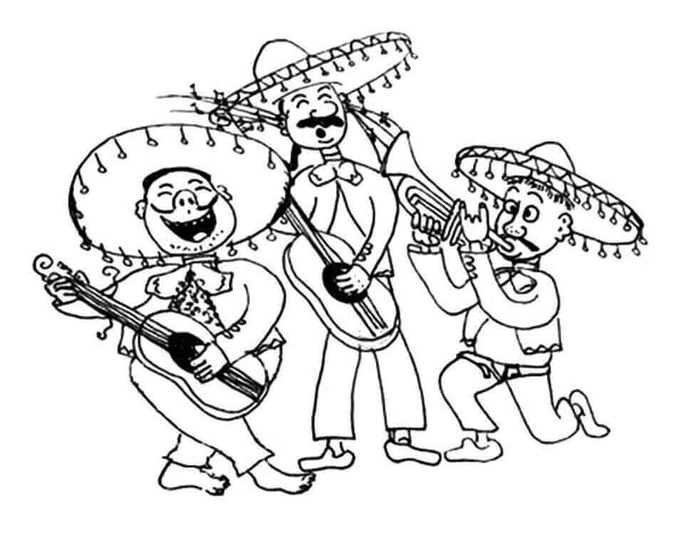 Cinco De Mayo Coloring Pages For Children