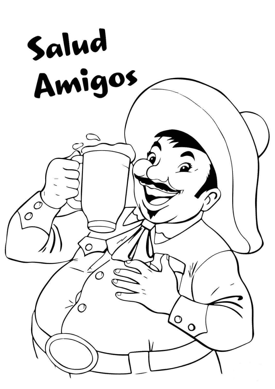 Cinco De Mayo Coloring Pages Free Printable