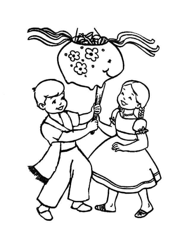 Cinco De Mayo Pinata Coloring Pages